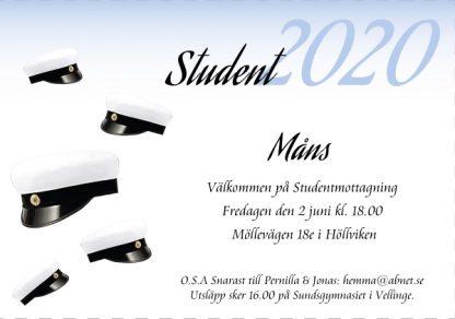 inbjudningskort student mall4