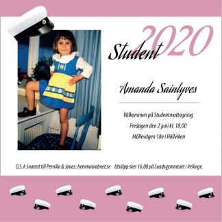 Studentinbjudan 2020 mall
