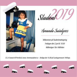 Studentinbjudan 2019 mall